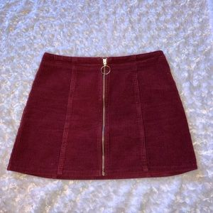 Forever 21, Burgundy mini skirt!